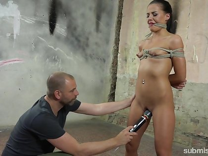 She wanted a 50 shades be proper of Grey fuck and she receives a brutal BDSM