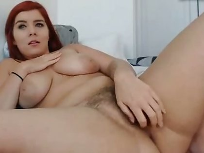 This redhead is such a luscious woman and say no to hairy pussy is hot to look at