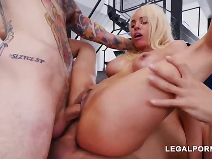 Luna Starlet is a immense culo light-haired doll who loves on every side get doublefucked, until she ejaculates