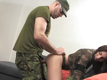 A remarkable army sex play for the new caddets