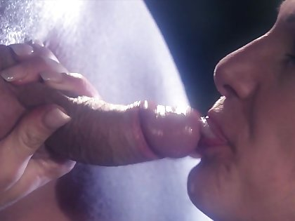 Erotic completed fucking with cum near mouth for pretty Victoria Sin