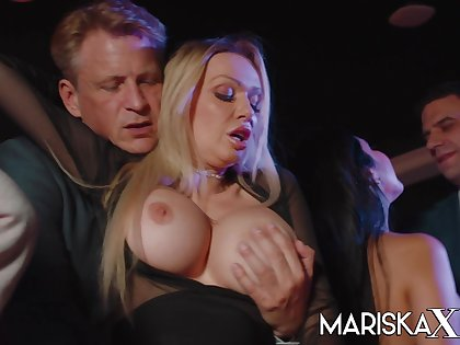 Orgy with Mariska with an increment of her friends Accouterment 1